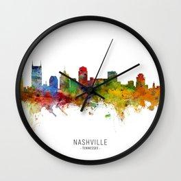 Nashville Tennessee Skyline Wall Clock