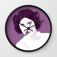princess leia Wall Clocks featuring Leia by zaiure