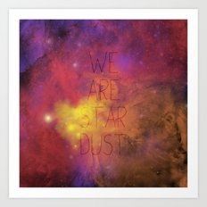 Nebula (Text) Art Print