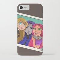 teen titans iPhone & iPod Cases featuring Teen Titan Girls by Angie Nasca
