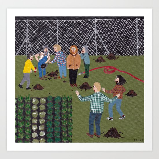 Mole Hunt Art Print
