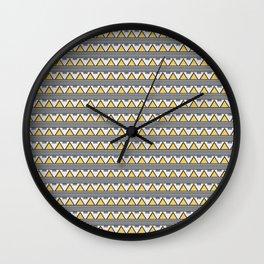 Golden Mountains Wall Clock