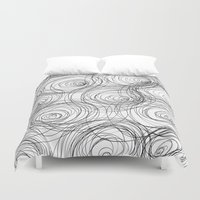 cycle Duvet Covers featuring Cycle Pattern by Maioriz Home