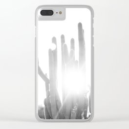 Sun blazing through San Pedro Cactus Clear iPhone Case