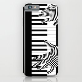 B&W Pianist iPhone Case