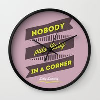 dirty dancing Wall Clocks featuring dirty dancing lilac by 16floor
