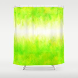 Neon Lemon Lime Abstract Shower Curtain