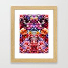 Crystal Floral Framed Art Print