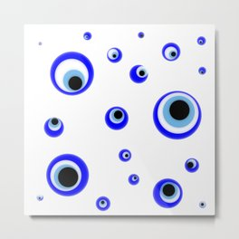 Evil eye pattern.nazarlik  Metal Print