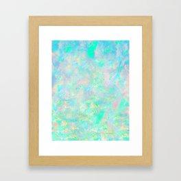 Light Blue Opal Framed Art Print