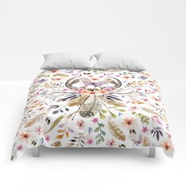 Boho nature circle Comforters