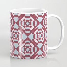 Simple geometric stripe flower red and blue Coffee Mug
