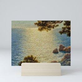 Classical Masterpiece 'Amalfi Coast, Italy' by Ivan Fedorovich Choultse Mini Art Print