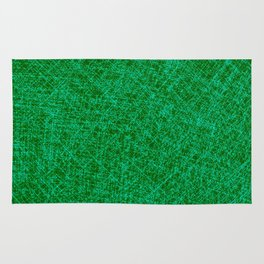 Scratched Green Rug