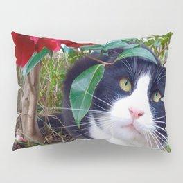 Orazio, the cat of camellias Pillow Sham