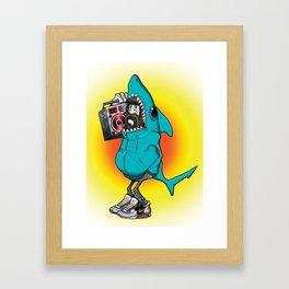 Shark Dude Framed Art Print