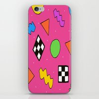 80s iPhone & iPod Skins featuring 80s Print by The POP Factory