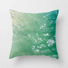 Hawaiian Water X Throw Pillow