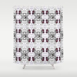 Roses Black Widow Shower Curtain