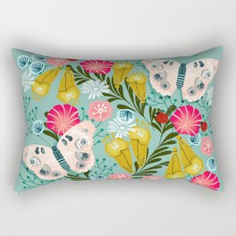 Buckeye Butterly Florals by Andrea Lauren  Rectangular Pillow