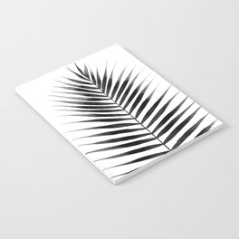 Palm Leaf Watercolor | Black and White Notebook
