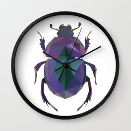 Lowpoly Dung Beetle Wall Clock