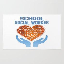 School Social Worker Rug