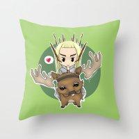 thranduil Throw Pillows featuring  Thranduil by YattaGiulia