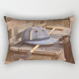 Old style polo equipment after the game Rectangular Pillow