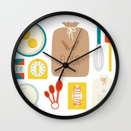 Bakers Table Wall Clock