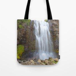 Watercolor People in Nature, Waterfall, Adult 04, Svalbard, Iceland Tote Bag