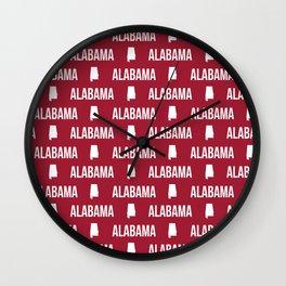 Alabama bama crimson tide pattern football varsity alumni Wall Clock