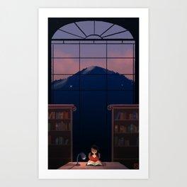 Night Read Art Print