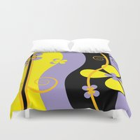 blossom Duvet Covers featuring Blossom by Graphic Tabby