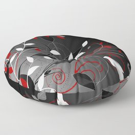 Nature in black, white and red. Floor Pillow