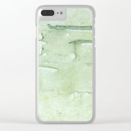 Gently green painting Clear iPhone Case