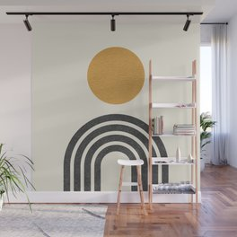 Mid century modern gold Wall Mural