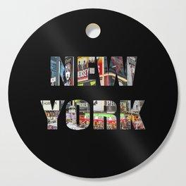 New York (photo type on black) Cutting Board
