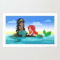 ouat Art Prints featuring OUAT - Mermaids by Choco-Minto