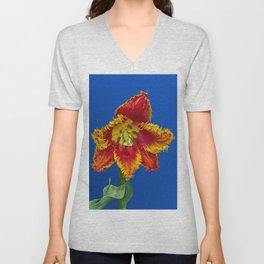 Flower tulip terry in spring Unisex V-Neck
