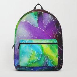 Purple Leaf Backpack