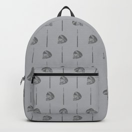 Music Guitar Picks and Drumsticks Gray and Grey Backpack