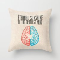 eternal sunshine of the spotless mind Throw Pillows featuring Eternal Sunshine of the Spotless Mind - Alternative Movie Poster by Anthony DeCarolis