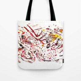 Pain: powerful acrylic splashing piece Tote Bag