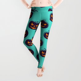 Scarry Halloween Pattern Leggings