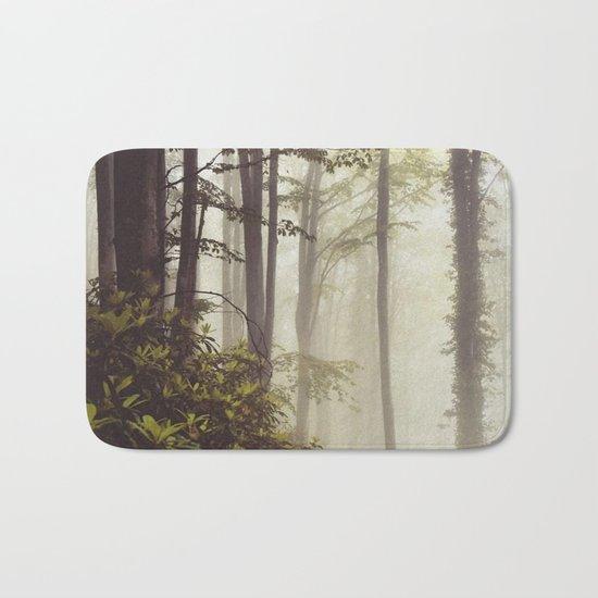 misty forest Bath Mat