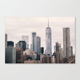 View of Manhattan Buildings Canvas Print
