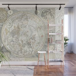 Star map of the Southern Starry Sky Wall Mural