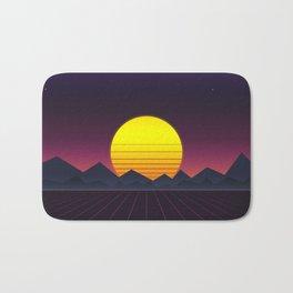 Vaporwave\\Mountain Bath Mat