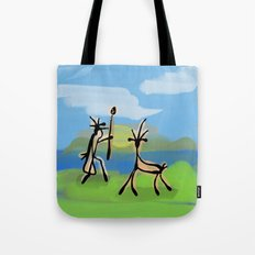 Cave Painting Tote Bag